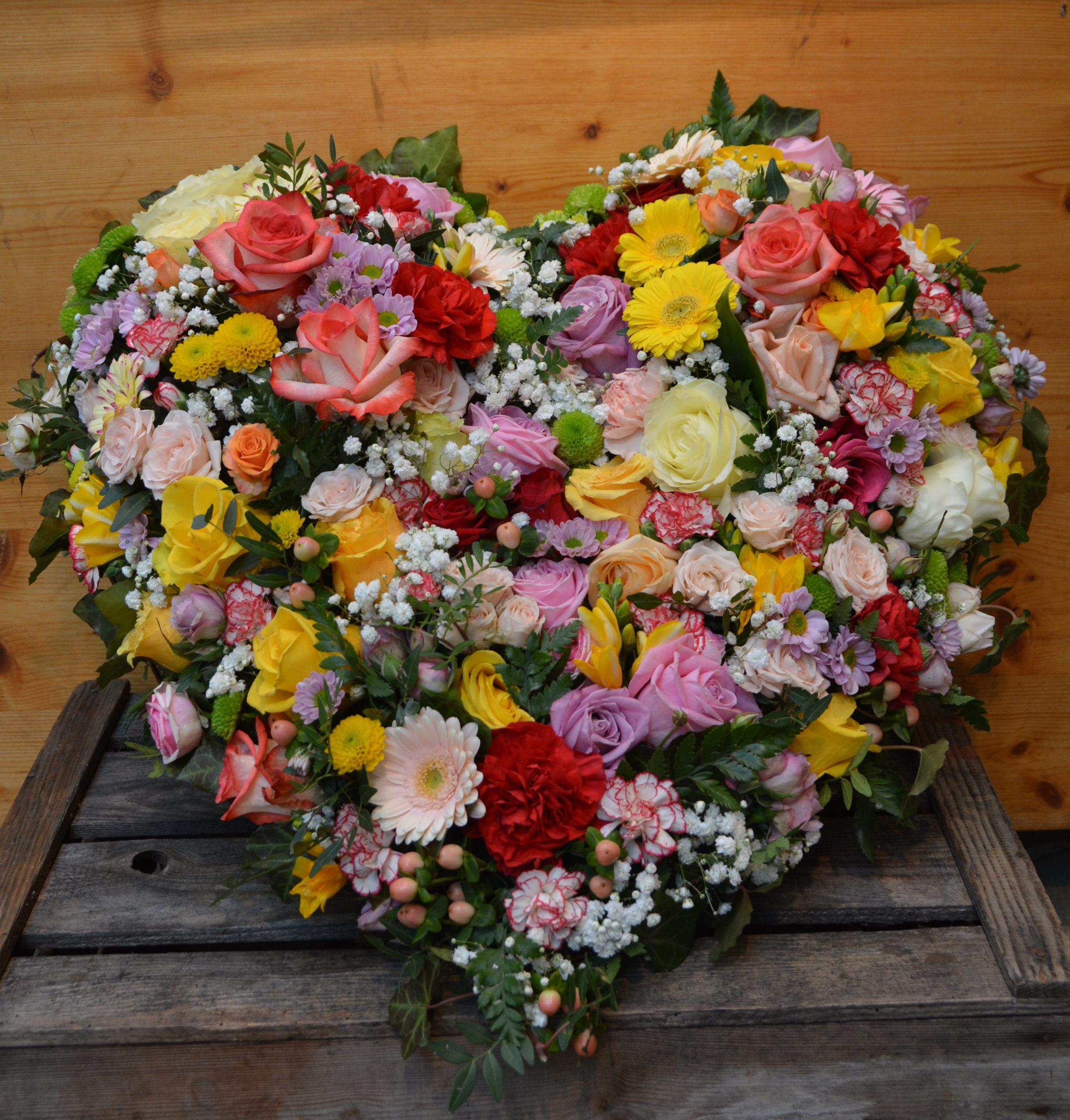 Herz Blütenherz Bunt